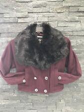 NWT Juicy Couture Faux Fur Dark Cabernet Mod Flight Jacket Sz XS $348