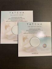 Tatcha The Water Cream Anti Aging Moisturizer Travel Size .03 oz 1 ml X2 NEW