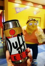 NEW Universal Studios The Simpsons Duff Beer Can Travel Mug Cold Tumbler SS