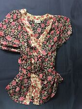 Converse  Women Floral Blouse Waste Straps Size S Made In India Bin39#29