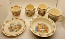 More details for royal doulton bunnykins 60th anniversary set bowl cups mugs saucer