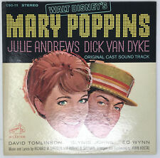 Walt Disney's Mary Poppins Original Cast Soundtrack LP Vinyl Record 1964