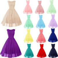 STOCK New Mini/short Bridesmaid Cocktail Prom Party Ball Evening dress Size 6-18