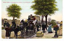VANDERBILT'S HORSE DRAWN COACH, RIVERSIDE DR. CLAREMONT INN, NEW YORK CITY NYC