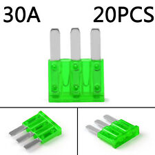 20Pcs Micro3 Fuse Automotive ATL 30A 3 Prong Micro Blade Fuse For Ford Focus