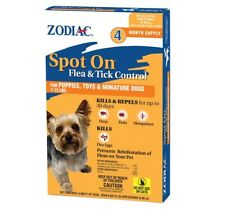 Zodiac Spot On Flea and Tick Control Puppies + Small Dogs 7-15 lb 4 Month/Supply