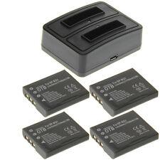 Duo Ladegerät + 4 Akkus Typ Sony NP-BG1 Ladestation Accu Battery Ersatzakku