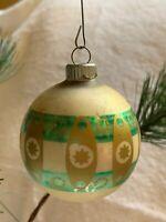 "2.5"" Vintage SHINY BRITE Stencil CHURCH Mercury Glass CHRISTMAS Tree ORNAMENT"