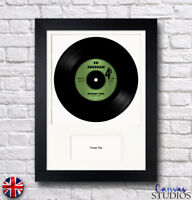 "A4 Framed Personalised Real 7"" Vinyl Record Song Valentine's Anniversary Gift"