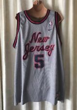 VINTAGE JASON KIDD NEW JERSEY NETS NBA NIKE SWINGMAN SEWN JERSEY ADULT XL