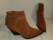 NEW JEFFREY CAMPBELL BEOWOLF HONEY SUEDE WESTERN ANKLE BOOTS WOMEN'S US 10