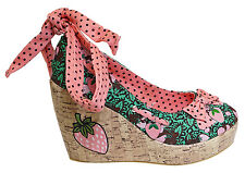 TOO FAST STRAWBERRY LADIES WEDGE