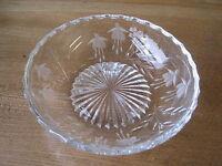 Beautiful Stuart Crystal Cascade Bowl Fuschia
