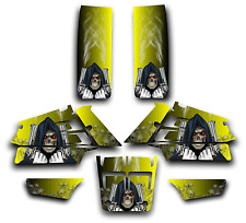 YAMAHA BANSHEE GRAPHICS DECAL KIT GRIM REAPER REVENGE STICKER WRAP YELLOW