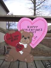 Bear with Hearts - Valentine's Day Yard Art Decor.