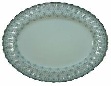 SPODE china FLEUR DE LYS Y7515 Grey OVAL MEAT Serving PLATTER 16-1/2""
