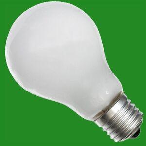 8x 60W A50 Incandescent Tungsten Filament Frosted GE Light Bulb E27 Screw Lamp
