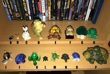 Bid on 1 or Buy-It-Now for All, Turtle Figurines, Wood Jade Glass, Sea Shells, P