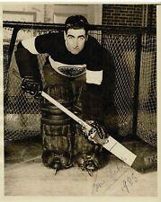 1935 Lorne Chabot Chicago Black Hawks Autographed Signed Hockey Photo. Beckett