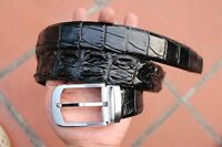 Black Genuine Alligator, CROCODILE Leather Skin Men's Belt