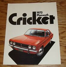 Original 1972 Plymouth Cricket Sales Brochure 72