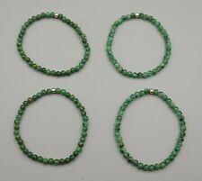 Armband PRASEM ca. 4 mm Perlen Afrika Jade ca. 19 cm A-Qualität Kugelarmband