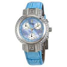 Fendi Zucca Blue Mother of Pearl Dial Ladies Chronograph Watch F451233BDC