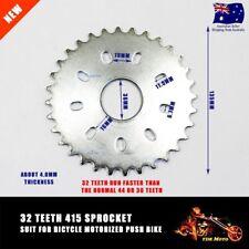 49cc 50cc 66cc 80cc Bicycle Motorized Bike Engine Parts 32T Teeth 415 Sprocket