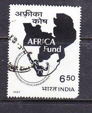 India postage stamp -1967 'Africa Fund' 6.50R  - Used
