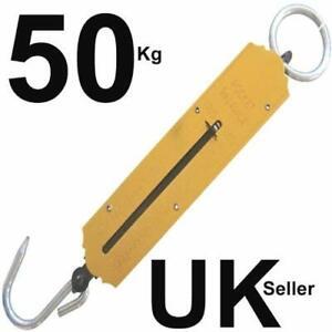 Spring balance hanging weighing luggage fish bag scale - 50KG