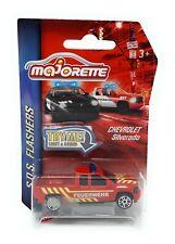 Majorette SOS Flashers Chevrolet Silverado Fire Light & Sound Model Car metal