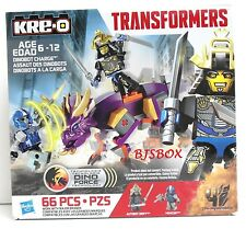 KRE-O Transformers Dinobot Charge 66 Pcs. A6949 Rare New Dinosaur Warrior Toy