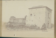 Italie, Paestum, Temple, 1898, Vintage citrate print Vintage citrate print C