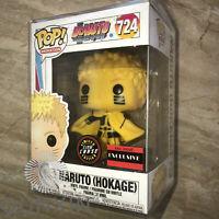 Funko pop!BORUTO #724 NARUTO(HOKAGE) Limited glow chase Exclusive W/Protector