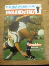 16/11/1977 England v Italy [At Wembley] . Any faults are noted in brackets, othe