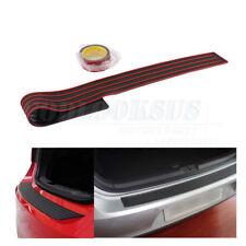 Red / Black Rear Bumper Protection Rubber Strip Anti-Scratch Door Sill Guard
