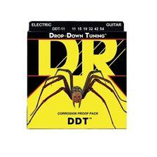DR Strings DDT-11 Nickel Plated Electric Guitar Strings, Heavy, 11-54
