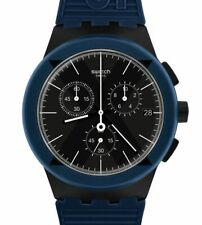 Swatch Chrono Plastic X-District Blue SUSB418 Neuware
