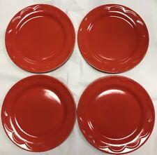 "Kate Spade New York Lenox All in Good Taste RED 8.75"" Salad Dessert Plate 4 Set"