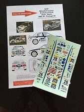 DECALS 1/24 MITSUBISHI LANCER STOHL RALLYE MONTE CARLO 1998 WRC RALLY HASEGAWA