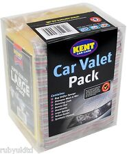 Kent Car Care Cleaning Valet Pack - Wash Gift Set Kit - Sponge Shampoo Pad G555