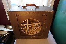 Vintage Antique Victor Art Deco Speaker Box / Cabinet Carry Case