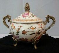 Sugar pot Flower Art Deco Style Art Nouveau Style Porcelain Bronze Ceramic Pot