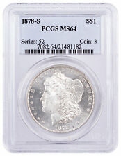 1878 S $1 Morgan Silver Dollar PCGS MS64 Mint State 64