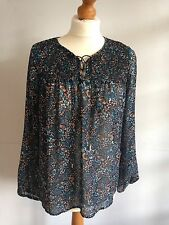 New Look Black Flowered Top, Size 8, Excellent Condition