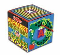 Melissa and Doug Alphabet Nesting and Stacking Blocks  (Damaged Packaging) 12782