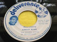 Rare island Reggae Gospel 45 : Ainsley Blair ~ Christ Is Coming ~ Deliverance