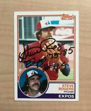 STEVE ROGERS MONTREAL EXPOS SIGNED AUTOGRAPHED 1983 TOPPS CARD #320 W/COA