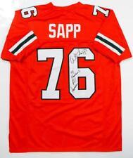 Warren Sapp Autographed Orange College Style Jersey w/ Insc- JSA W Auth *9
