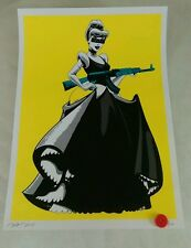 Cinderella AK. yellow G Original, NYC Ltd/100. sign/num with COA.  dismaland .